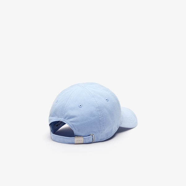 LaCoste-Men's Big Croc Gabardine Cap-Light Blue • G51-RK8217