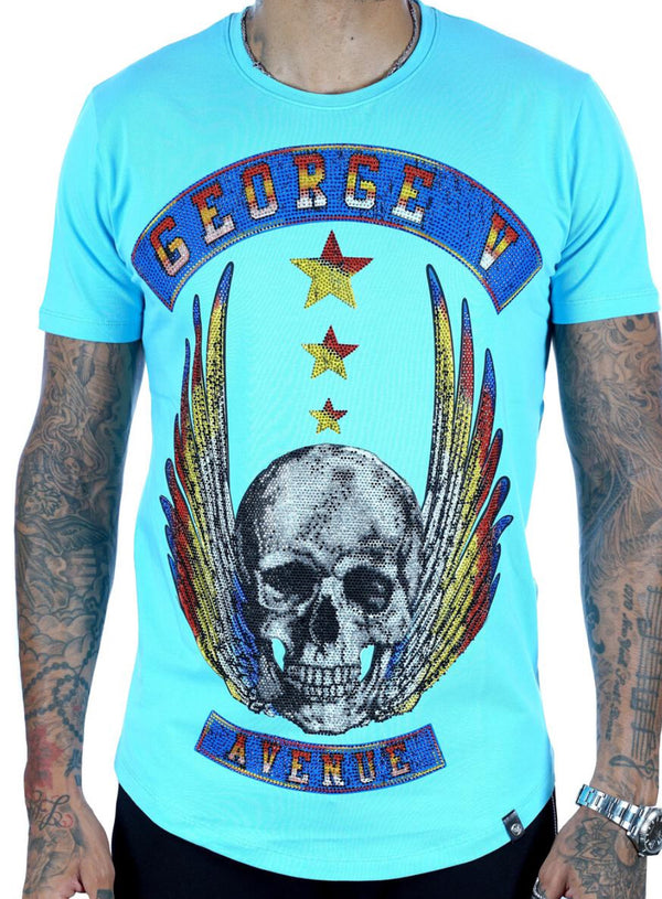 George V-Flying Skull-Baby Blue