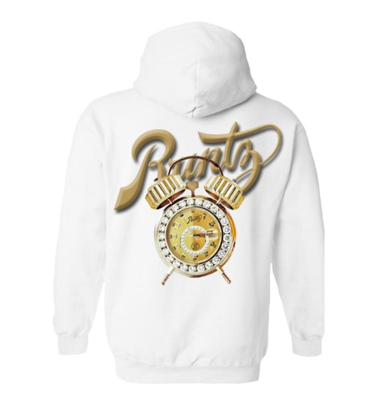 Runtz-Time Is Money Hoodie-White