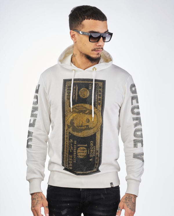 George V-Gold Benjamin Franklin Hoodie-White