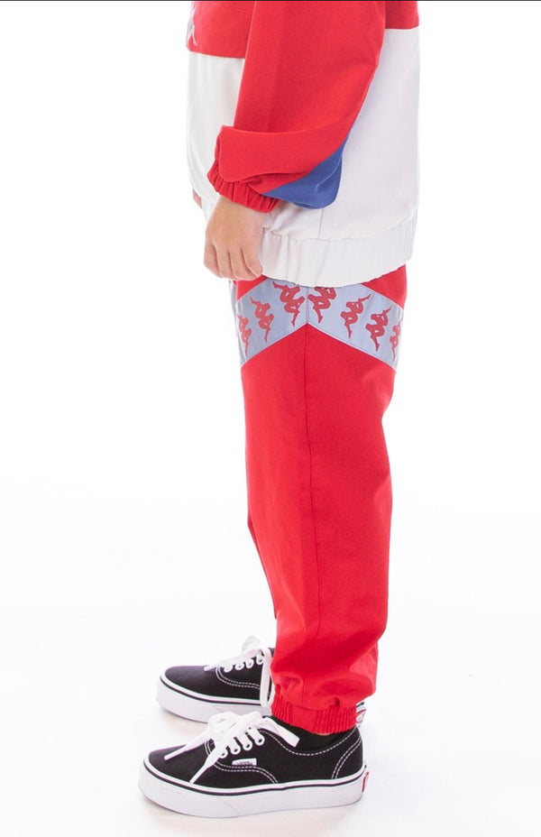 Kappa Kids-Banda Antix Reflective Pants-Red/Blue