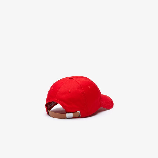 LaCoste-Men's Oversized-Croc Cap-Red • 240-RK4711-51