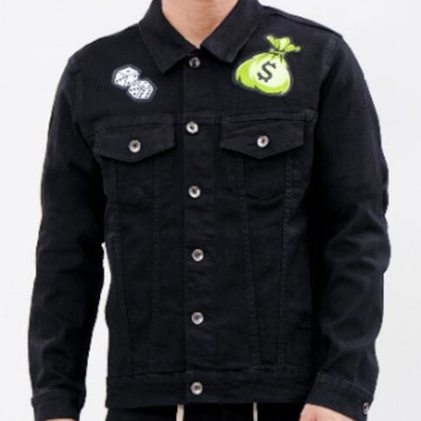 Roku Studio-Angel Money Bag Denim Jacket-Black