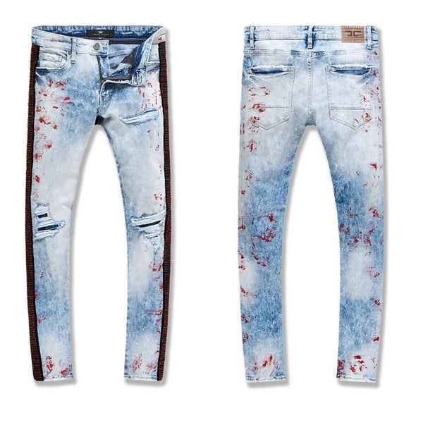 Jordan Craig-Ross-Vegas Striped Denim 2.0-Fire Red-JM3466
