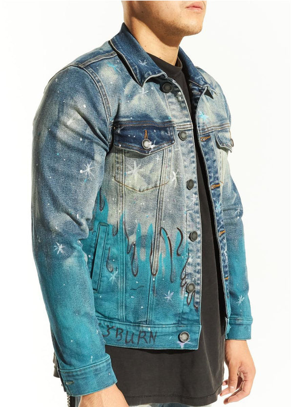 Embellish-Walter Denim Jacket-Blue