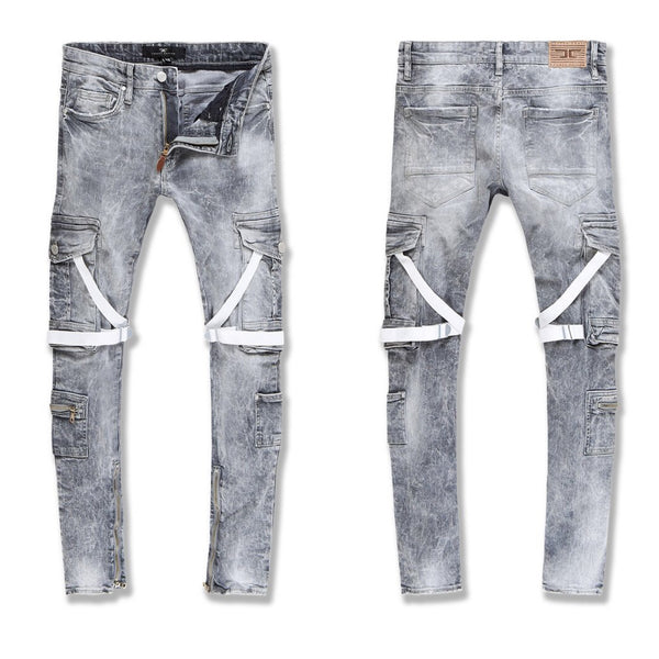 Jordan Craig-Ross-Deadwood Cargo Denim-Cement Wash-JM3526
