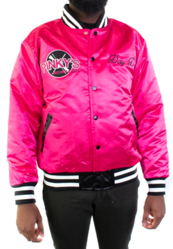 Headgear Classic-Next Friday Pinky's Record Shop Satin Jacket-Pink