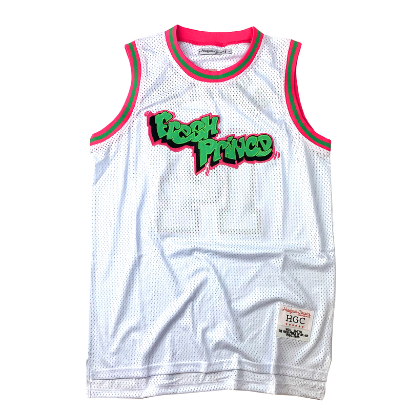 Head Gear-Fresh Prince Jersey-White-HGC22-BBJ-45