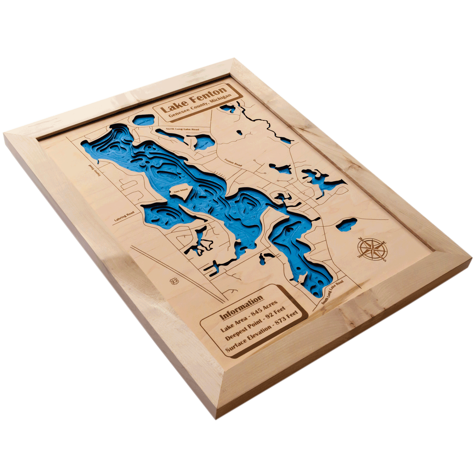 Map X.3d Lake Maps Wood Ya Shop