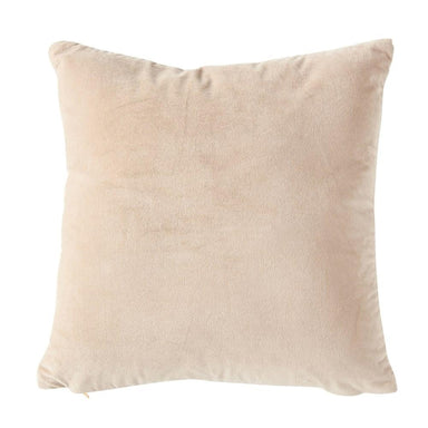 "20"" Square Cotton Velvet Front Pillow - Taupe Pillow Creative Coop"
