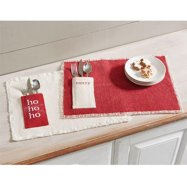 Christmas Dhurrie Place Mat Placemat Mud Pie