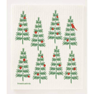 Christmas Trees Swedish Dishcloth Swedish Dishcloth Three Bluebirds