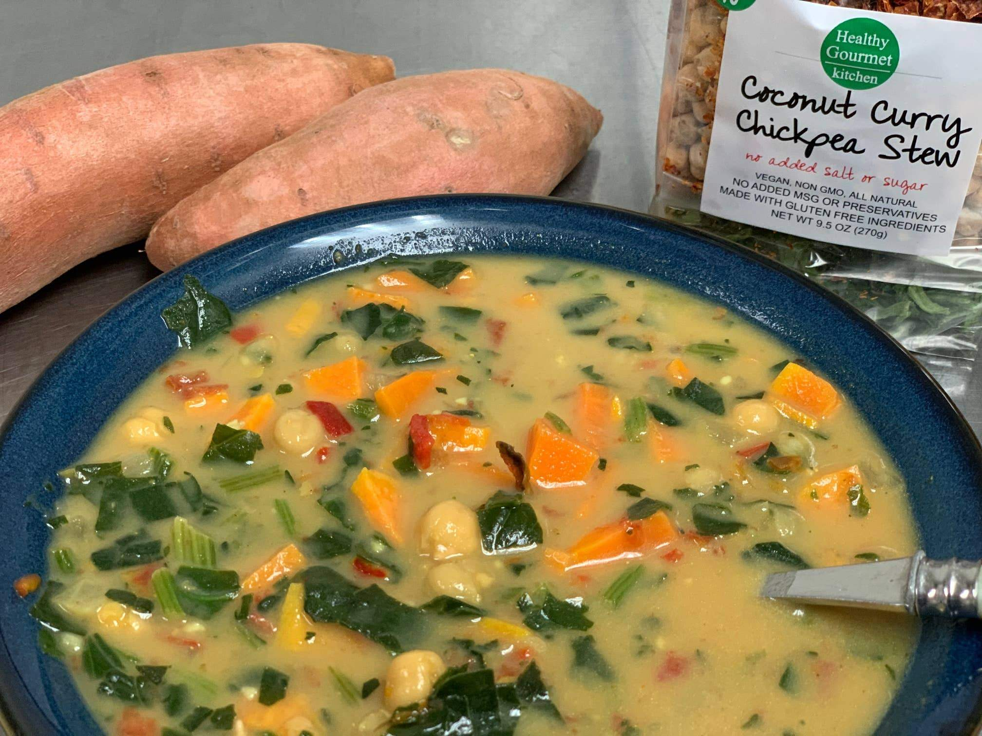 Coconut Curry Chickpea Soup Food and Beverage Healthy Gourmet Kitchen