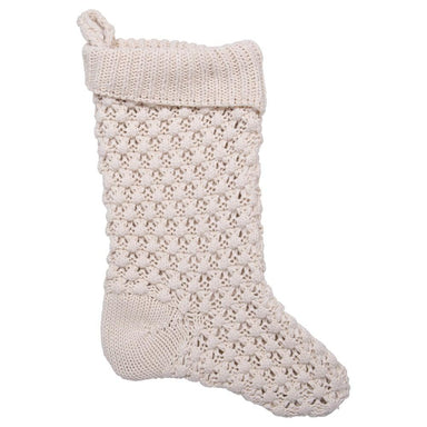 Cream Knit Stocking Holiday Decor Creative Coop