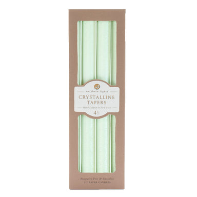 Crystalline Tapers - Crystal Mint Candle Northern Lights
