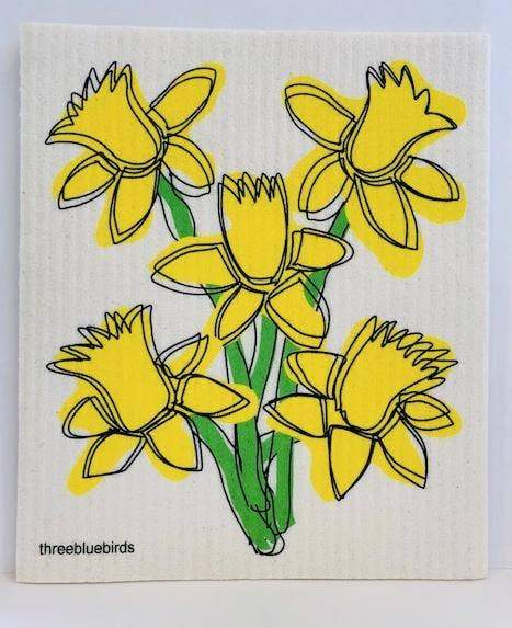 Daffodil Swedish Dishcloth Swedish Dishcloth Three Bluebirds