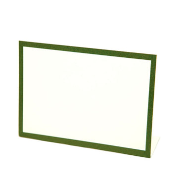 Dark Green Frame Place Cards Placecards Hester and Cook