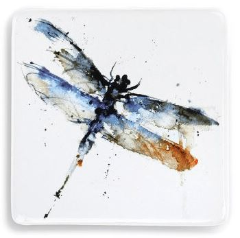 Dragonfly Magnet Magnet Demdaco Blue and Yellow Right-Facing Dragonfly