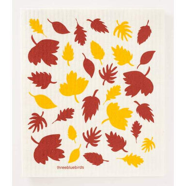 Fall Foliage Swedish Dishcloth Swedish Dishcloth Three Bluebirds