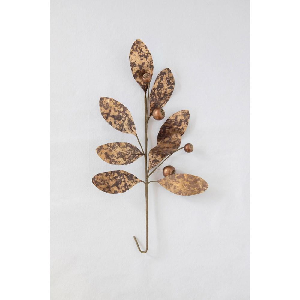 Gold Finish Faux Leaf Spray Floral Creative Coop