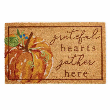 Grateful Pumpkin Doormat Doormat Mud Pie