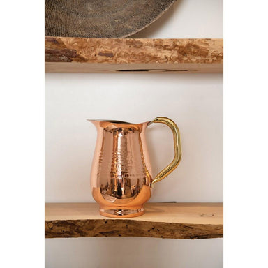 Hammered Stainless Steel Pitcher, Copper Finish Pitcher Creative Coop
