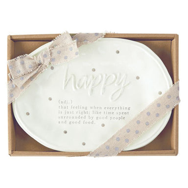 Happy Definition Plate Plate Mud Pie
