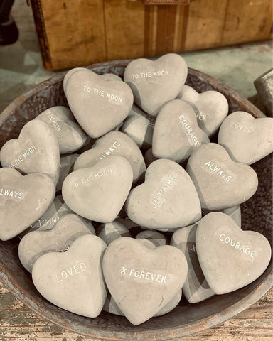 Heart Shaped Stone Decor Sugarboo