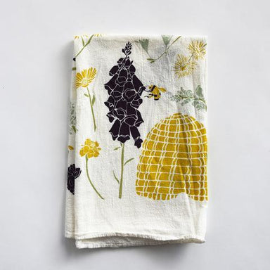 Honeybee Garden Tea Towel Tea Towel June & December