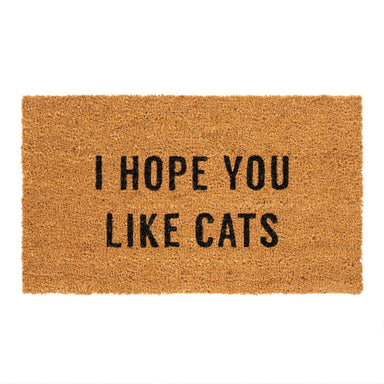 I Hope You Like Cats Doormat Doormat Indaba