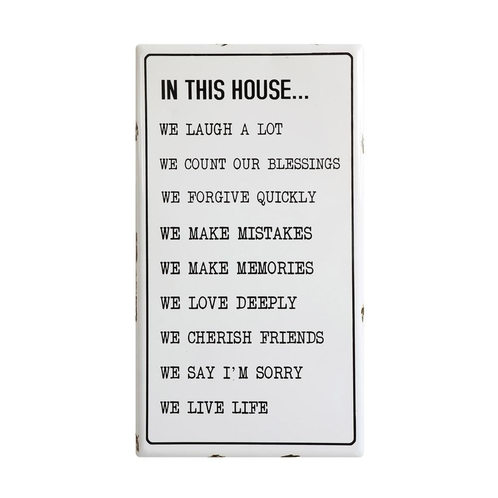 In This House Wall Decor Decor Mud Pie
