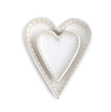 Journey Heart Shaped Plates Serveware Demdaco