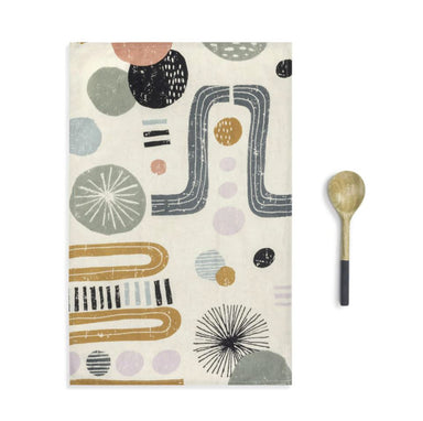 Kaleidoscope Kitchen Towel & Utensil Set Tea Towel Demdaco