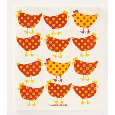 Little Chickens Swedish Dishcloth Swedish Dishcloth Three Bluebirds