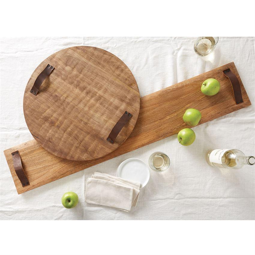 Long Oversized Wood Serving Board Serveware Mud Pie