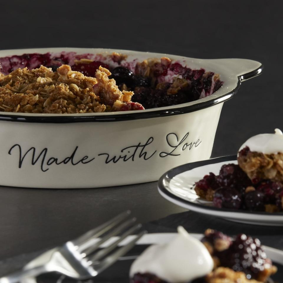 Made with Love Pie Dish Kitchen Demdaco