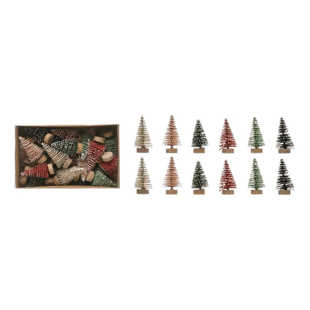 Mini Bottle Brush Trees Holiday Decor Creative Coop