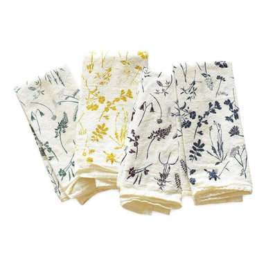 Mixed Wildflowers Napkins, Set of 4 Napkin June & December