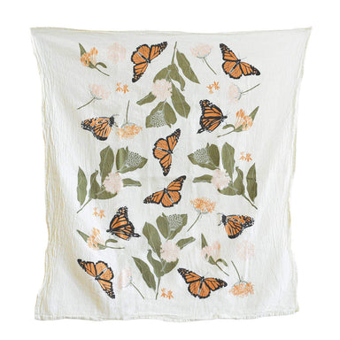 Monarchs + Milkweeds Towel Tea Towel June & December