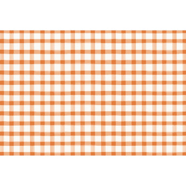 Orange Painted Check Placemat - 24 Sheets Placemats Hester and Cook