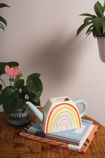 Over the Rainbow Watering Can - Blue Watering Can Accent Decor