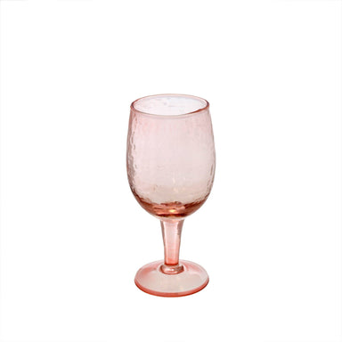 "Pink Valdes Wine Glass Drinkware Indaba Small 6.5""H"