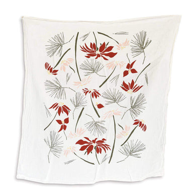 Poinsettia & Pine Towel Tea Towel June & December