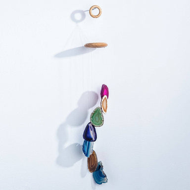 Rainbow Agate Wind Chimes Wall Hanging Geocentral