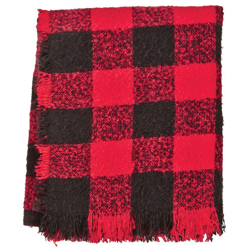 Red Buffalo Check Throw Blanket Blanket Mud Pie