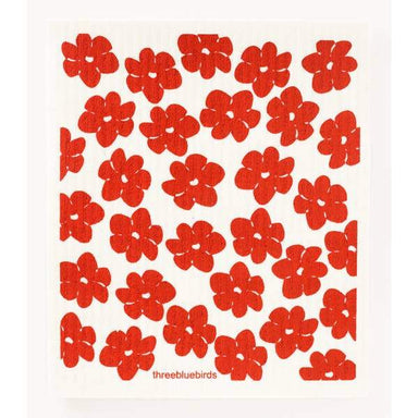 Red Poppies Swedish Dishcloth Swedish Dishcloth Three Bluebirds