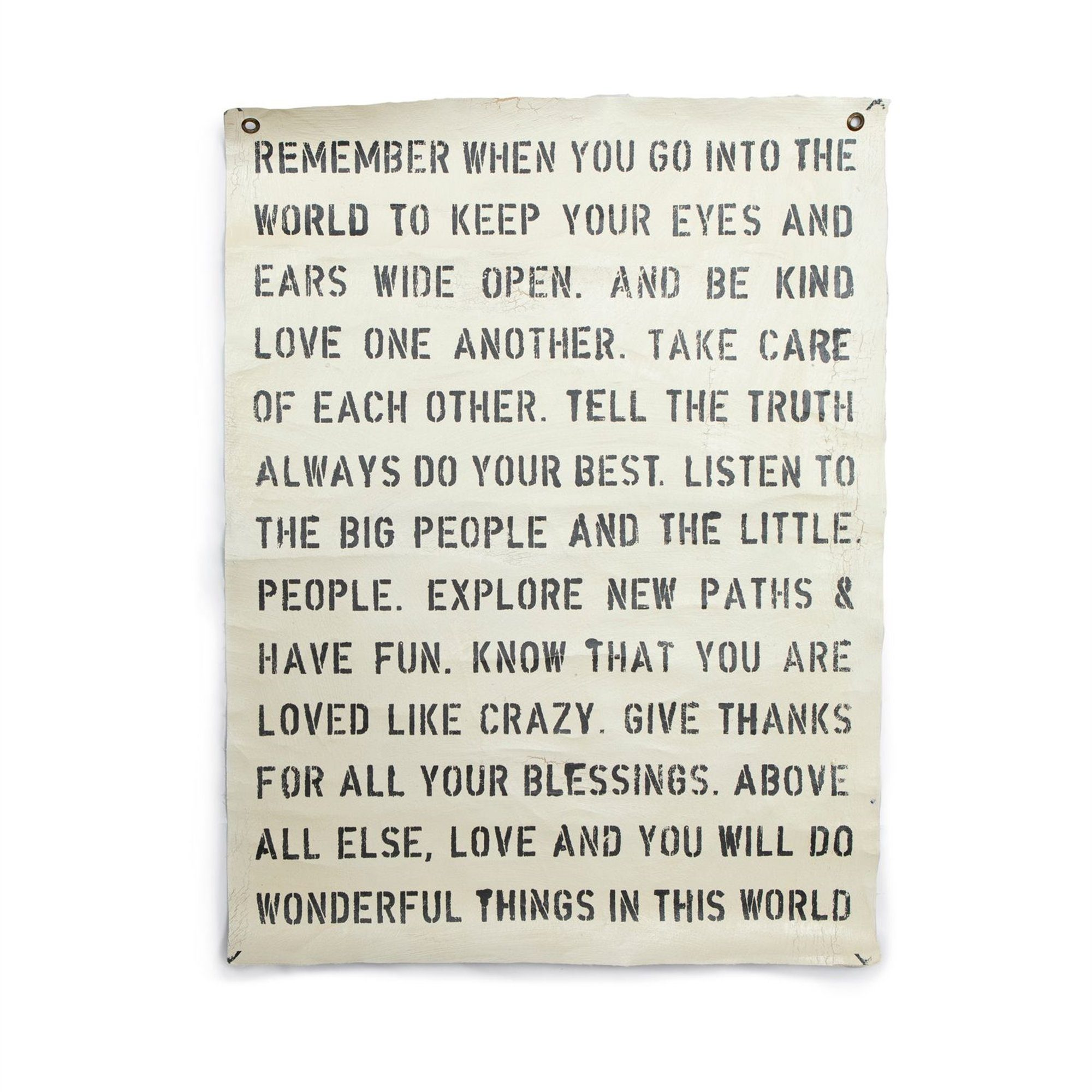 Remember When Wall Tarp Wall Art Sugarboo & Co.