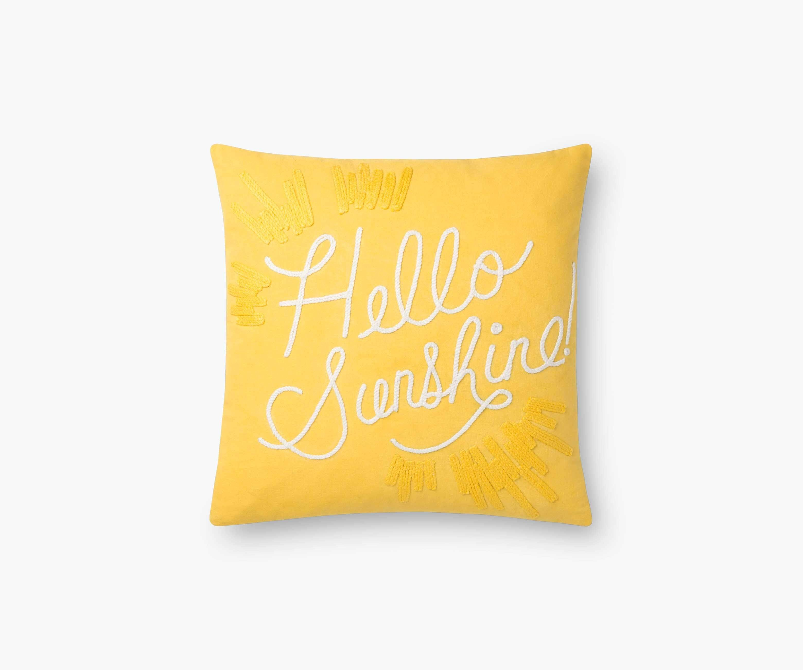 Rifle Paper Co. Hello Sunshine Embroidered Pillow Pillow Rifle Paper Co.