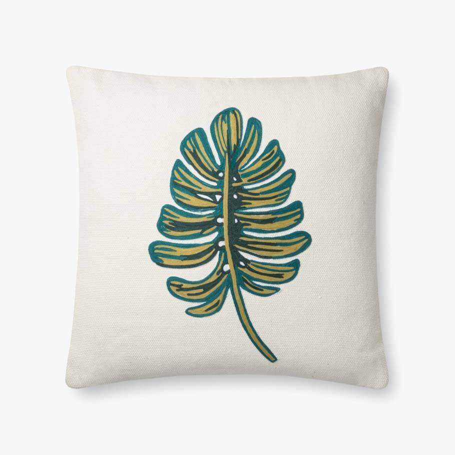 Rifle Paper Co. Monstera Embroidered Pillow Pillow Rifle Paper Co.