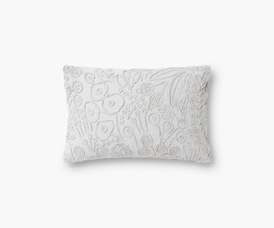 Rifle Paper Co. Tapestry Embroidered Lumbar Pillow - Grey Pillow Rifle Paper Co.